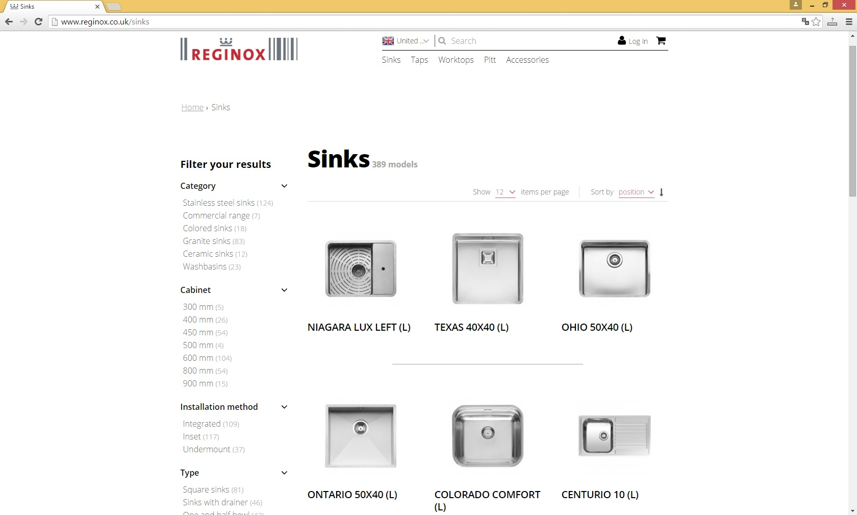New website Reginox UK